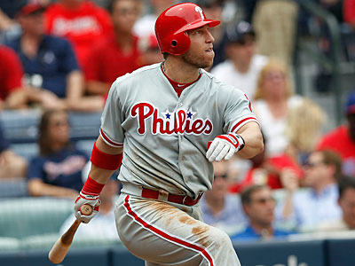 Laynce Nix could be out of the Phillies lineup for a few more weeks. (John Bazemore/AP Photo)