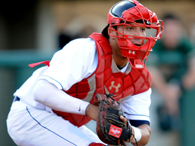 Catcher Sebastian Valle is one of the cost-effective prospects the Phillies have plucked from Latin America. (David Schofield/Lakewood BlueClaws)