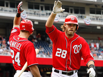 Jayson Werth and the Nationals are in first place in the National League East. (Jacquelyn Martin/AP)