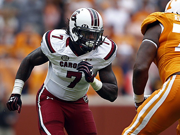 Former South Carolina defensive end Jadeveon Clowney. (Wade Payne/AP)