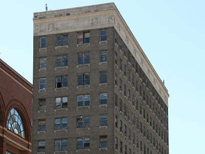 The historic 12-story Wilson Building, vacant since the mid '90s, is being renovated by an investor who sees the building as the cornerstone of Camden's reinvigoration. (Laurence Kesterson / Staff Photographer)