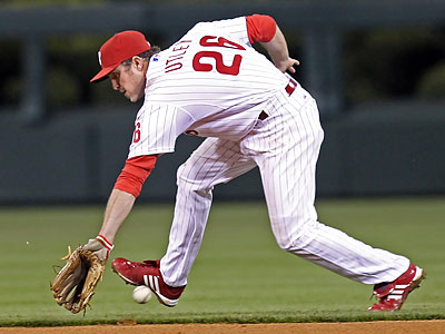 Charlie Manuel said sitting Chase Utley tonight was a precautionary move. Utley could return tomorrow. (Steven M. Falk/Staff file photo)