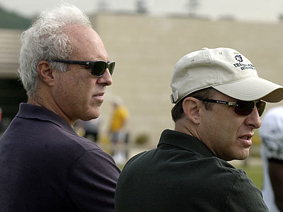 Unfulfilled expectations have haunted Jeff Lurie and Joe Banner. (Michael Perez/Staff file photo)