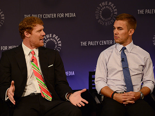 Alexi Lalas (left) and Taylor Twellman (right) are two of ESPN´s most prominent voices on Major League Soccer. (Photo courtesy of ESPN Images)