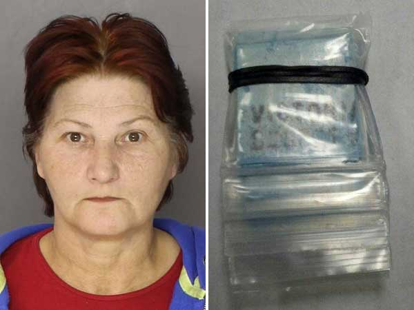 Pauline Bilinski-Munion was arrested after her 7-year-old grandson allegedly found heroin in her Chester County home and brought it to school.