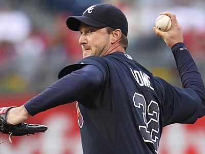 Derek Lowe had a no-hitter going against the Phillies until the seventh inning on Friday night. (Michael Bryant/Staff Photographer)