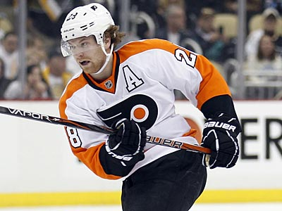 """I'm getting a little bored here just working out,"" Flyers center Claude Giroux said. (Yong Kim/Staff file photo)"