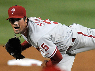Cole Hamels gets the start in a Memorial Day matchup with the Mets. (Richard Lipski/AP)