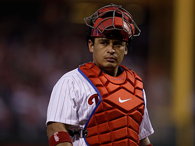 Phillies catcher Carlos Ruiz will sit out Monday´s game in New York. (Matt Slocum/AP)
