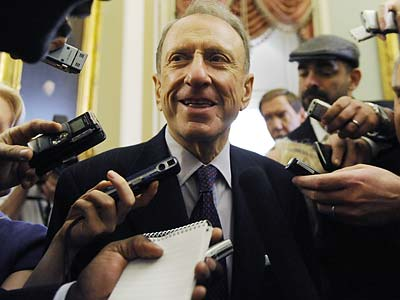 Sen. Arlen Specter is renowned for his track record of bucking party leadership. (Susan Walsh/AP)