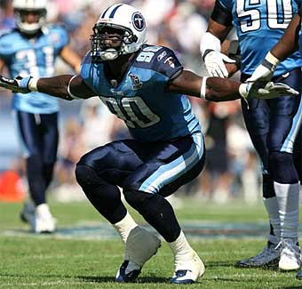 Ex-Eagle Jevon Kearse had minor knee surgery and missed Wednesday´s minicamp workout with the Titans. (AP)