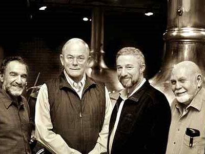 The first generation of the microbrewing revolution (from left): Homebrewing guru Charlie Papazian, Anchor Brewing´s Fritz Maytag, Sierra Nevada founder Ken Grossman, and beer writer Fred Eckhardt.