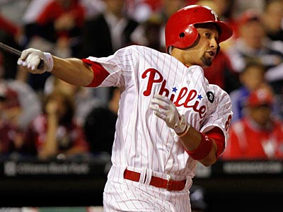 Shane Victorino has an injured hamstring but is not expected to land on the DL (Laurence Kesterson/Staff Photographer).