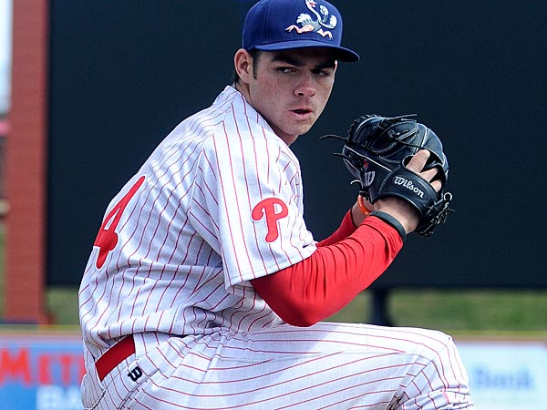 Reading Fightin Phils pitcher Jesse Biddle. (Jacqueline Dormer/Republican-Herald/AP file photo)