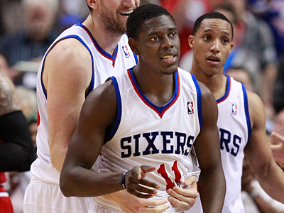 Jrue Holiday has been shooting almost 46 percent from the floor during the Sixers´ playoff games.  (Ron Cortes/Staff Photographer)