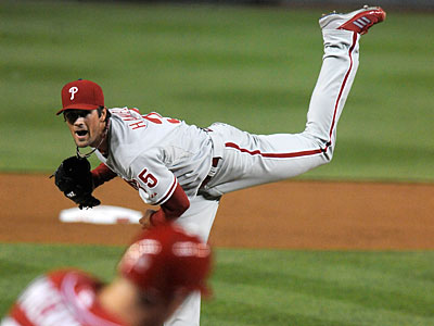 Cole Hamels´ five-game suspension will only push his next scheduled start back one day. (Richard Lipski/AP)