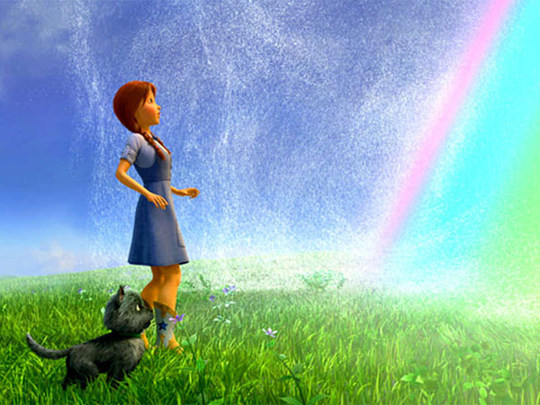 Dorothy (voiced by Lea Michele) and Toto in a tale by L. Frank Baum´s grandson.
