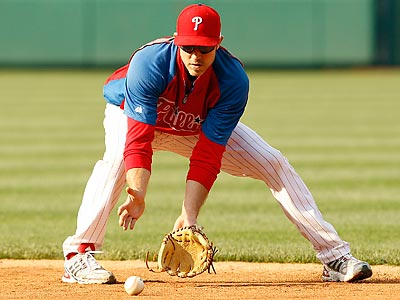 Chase Utley went 1-for-7 in his second extended spring training game. (Yong Kim/Staff Photographer)