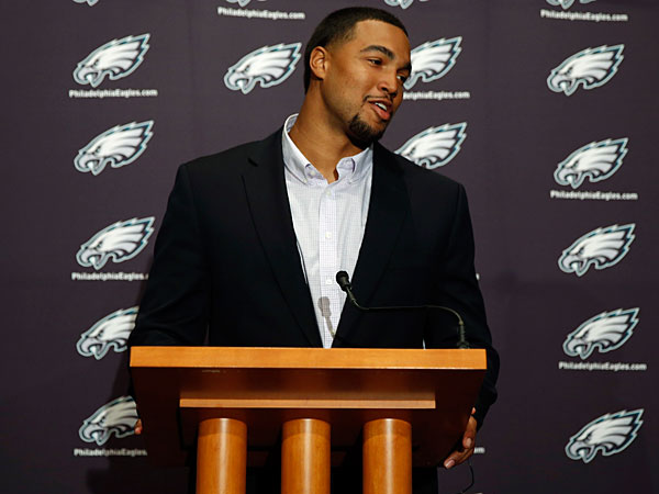 Newly-drafted Eagle Marcus Smith. (Matt Slocum/AP)