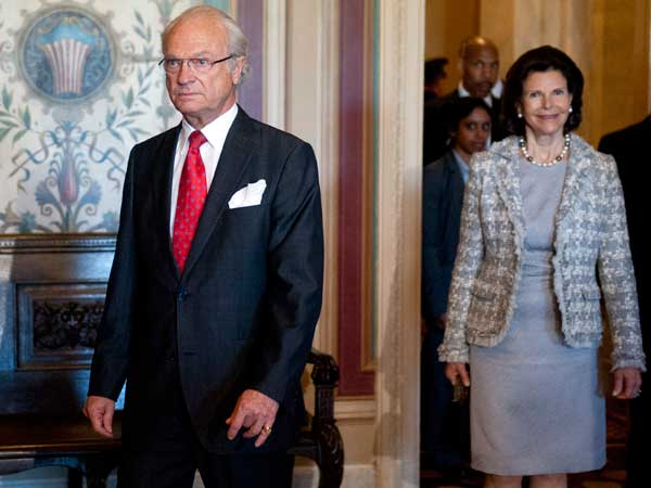 Swedish King Carl XVI Gustaf and Queen Silvia will visit Philadelphia today. (AP photo)