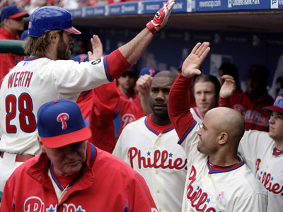Jayson Werth currently leads the Phillies with 26 RBIs. He will be a free agent after this season. (David Maialetti / Staff Photographer)