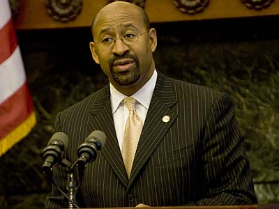 """This budget agreement reflects the reality of the legislative process,"" Mayor Nutter said. (Kevin Cook/Staff file photo)"
