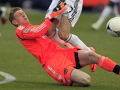Union goalkeeper Zac MacMath has been dealing with concussion symptoms. (Ron Cortes/Staff file photo)