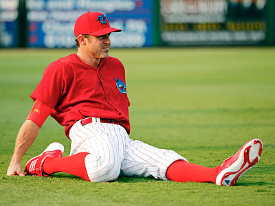 Chase Utley went 1-3 with a home run and a walk for Clearwater on Thursday. (Mike Carlson/AP file photo)