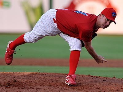Roy Oswalt will start Tuesday against the Cardinals in his first game back from the 15-day disabled list. (Photo by Tim Boyles)