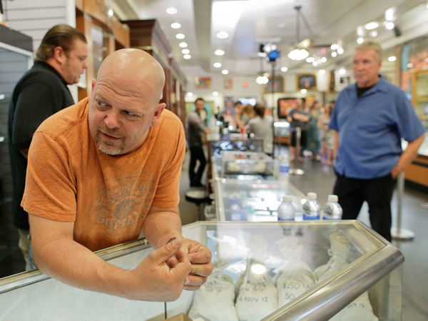"Rick Harrison, the star of ""Pawn Stars,"" has seen his bottom line soar since the show started airing. (Julie Jacobson / AP)"