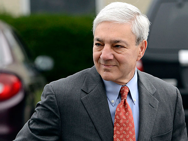 Ex-Penn State President Graham Spanier became the highest paid public college president of 2011-12 when he was forced out. (AP Photo/Jason Minick, File)