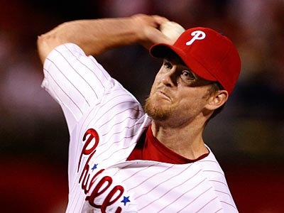 Brad Lidge remains day-to-day with an elbow injury. (Ron Cortes / Staff Photographer)