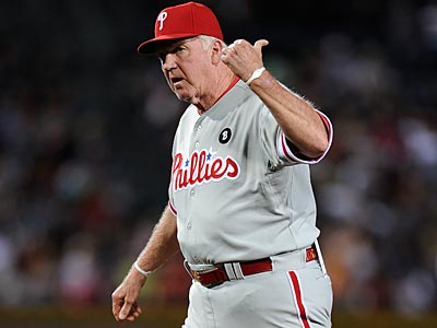 Charlie Manuel and the Phillies fell to the Braves, 5-3, on Saturday afternoon at Turner Field. (Paul Abell/AP file photo)