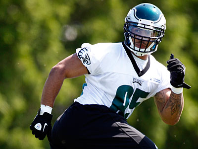 Rookie linebacker Mychal Kendricks gives the Eagles a different look in the pass rush. (Alex Brandon/AP)
