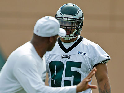"""There was a lot of Eagles stuff around"" the Kendricks home in Fresno, Mychal Kendricks said. (Alex Brandon/AP)"