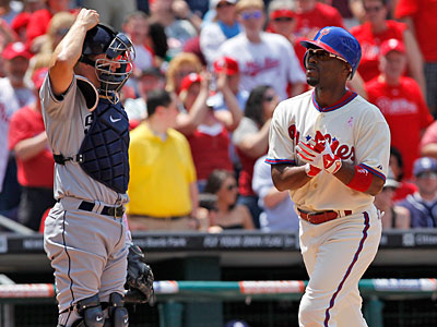 Jimmy Rollins homered as the Phillies beat the Padres, 3-2. (Alex Brandon/AP)