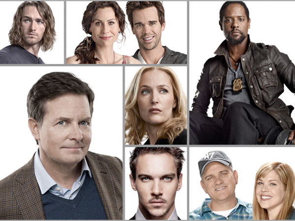 Thumbs of NBC´s new show stars including Michael J. Fox. (NBC Photo)