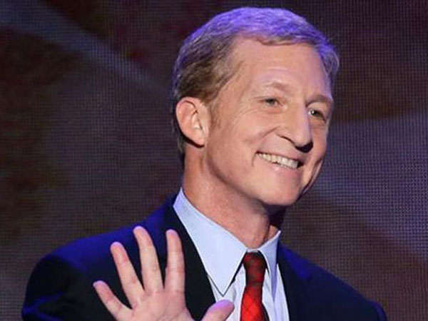 California billionaire Tom Steyer has launched a crusade to combat global climate change. (AP Photo)