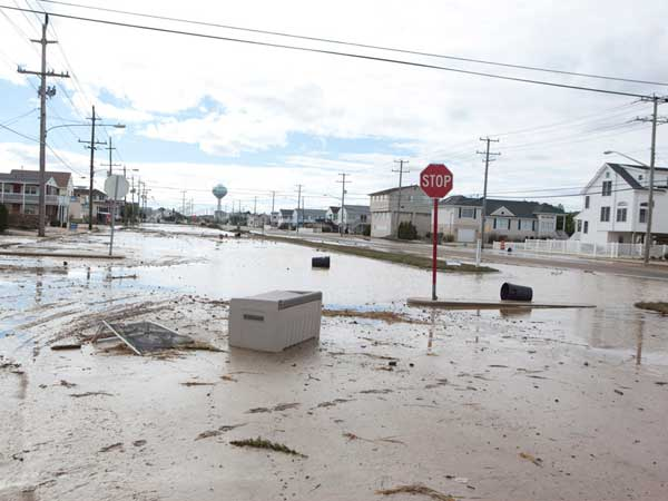 Aftermath of Hurricane Sandy, Long Beach Island, N.J., on Wednesday, Oct. 31. Here, Long Beach Boulevard. ( ED HILLE / Staff Photographer )