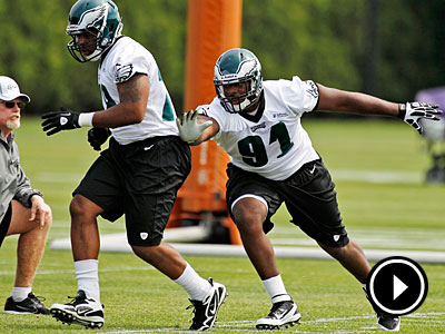 Fletcher Cox has a chance to start at defensive tackle when the season begins. (Alex Brandon/AP Photo)