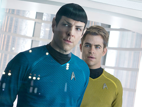 "Zachary Quinto, left, is Spock and Chris Pine is Kirk in the latest installment of ""Star Trek."" (Photo / Zade Rosenthal, Paramount Pictures and Skydance Productions)"