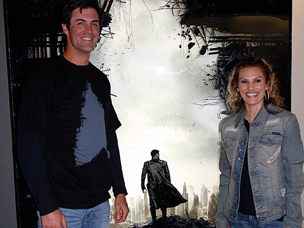 "Cole and Heidi Hamels at a private screening of ""Star Trek: Into Darkness."" (Photo via Paramount Pictures)"