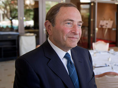 Commissioner Gary Bettman has said the NHL is ready to begin negotiations for a new CBA at any time. (Julie Jacobson/AP)