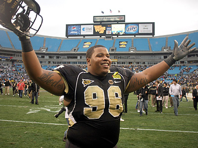 The Eagles have signed Boo Robinson, a DT from Wake Forest. (AP Photo/Nell Redmond)