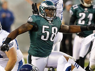 Eagles defensive end Trent Cole had 26 defeats in 2010. (Ron Cortes/Staff file photo)