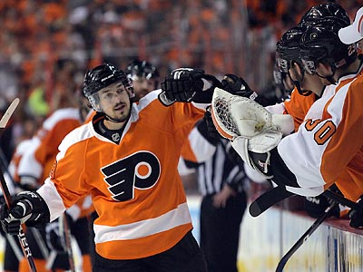 Danny Briere´s first-period goal proved to be the only one the Flyers needed. (Yong Kim / Staff Photographer)