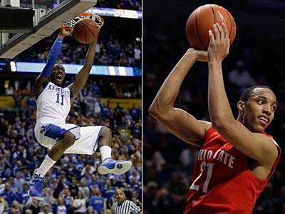 Kentucky guard John Wall and Ohio State guard/forward Evan Turner are two of the top prospects in this year´s draft. (AP Photo)