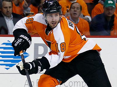 Mike Richards was hampered by an injured wrist throughout the season. (Yong Kim/Staff file photo)