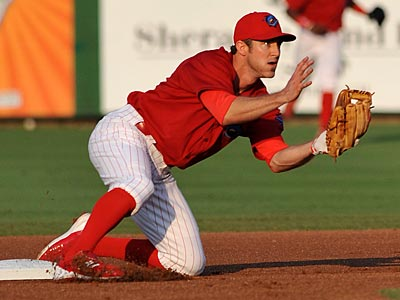 Phillies second baseman Chase Utley has been rehabbing with the Clearwater Threshers. (Photo by Tim Boyles)