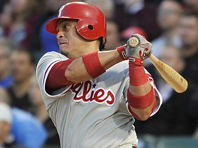 Phillies catcher Carlos Ruiz has been on fire as of late and is hitting .366 on the season. (Brian Kersey/AP)
